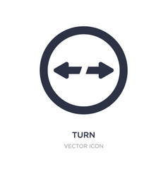 Turn icon on white background simple element from vector