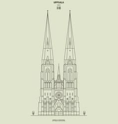 Uppsala cathedral sweden vector