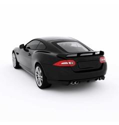 Very fast sport black car vector