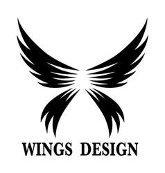 Wings design 8 vector