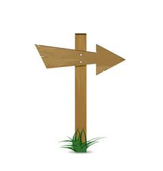 wooden arrow pointer vector image