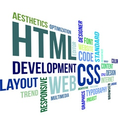 Word cloud html and css vector