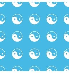 Ying yang straight pattern vector