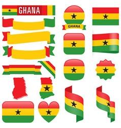 Ghana flags vector image