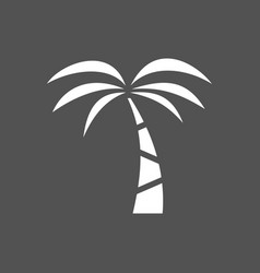 palm tree icon on a dark background vector image