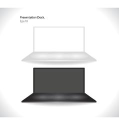 shelf for exhibit vector image