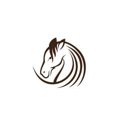 simple horse vector image