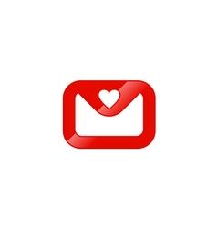 email letter love valentine logo vector image vector image