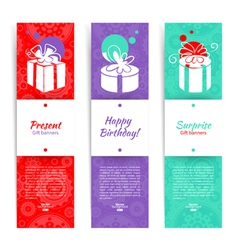 Present backgrounds with gift box vector image