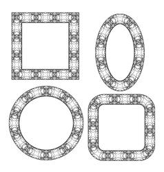 Set of Circle Decorative Frames vector image vector image
