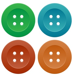 Set of Colorful Sewing Buttons vector image vector image