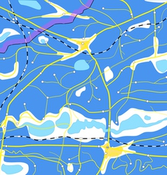 Abstract blue geography map vector image