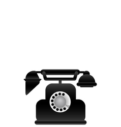 black classical phone vector image vector image