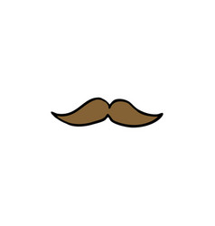 mustache doodle icon vector image