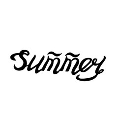 summer- isolated hand drawn lettering vector image vector image