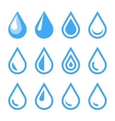 Water Drop Emblem Logo Template Icon Set vector image vector image
