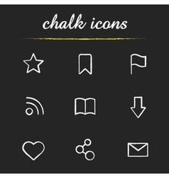 Web browser chalk icons set vector image vector image
