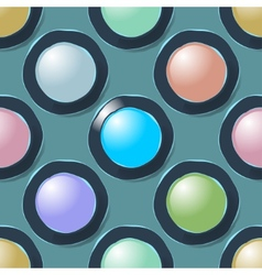 Color circles geometric seamless pattern vector image vector image