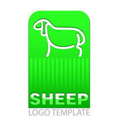color drawing of sheep vector image