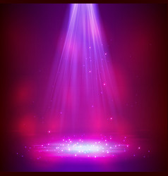 colourful glowing spotlights vector image
