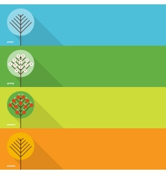 Four seasons banners vector