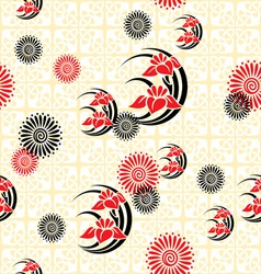 japan floral background vector image
