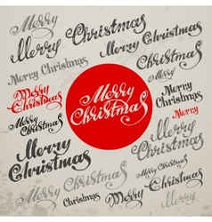 Merry christmas calligraphic lettering vector