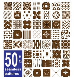 monochrome seamless patterns collection vector image vector image