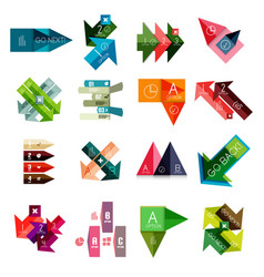 set of geometrical infographic templates vector image vector image