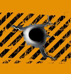 single bullet holes vector image vector image