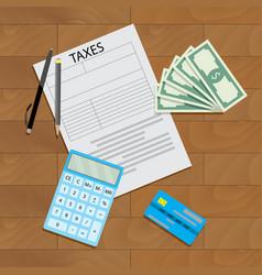 tax declaration vector image vector image