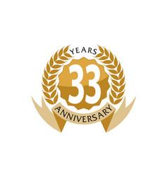 33 years ribbon anniversary vector image