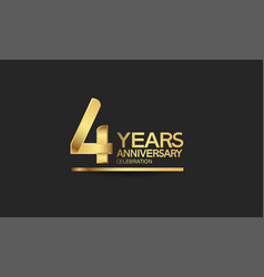 4 years anniversary celebration with elegant vector
