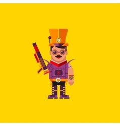 A steampunk character for halloween vector