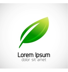 Abstract geometric business symbol - elegant leaf vector