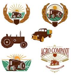 Agro company logo template vector image