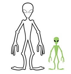 Alien coloring book Humanoid space alien vector image