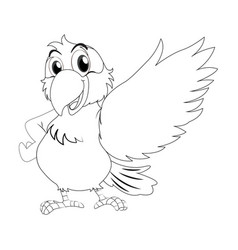 animal outline for parrot vector image