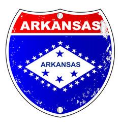arkansas interstate sign vector image
