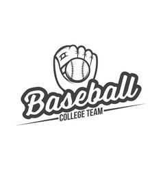 baseball logo and insignia vector image