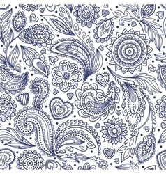 Beautiful floral paisley seamless vector