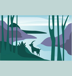 beautiful scene of nature peaceful summer vector image