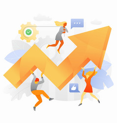 Boost business effectivity vector