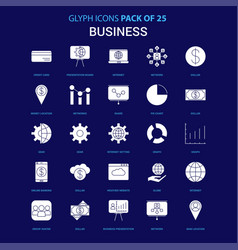 business white icon over blue background 25 icon vector image