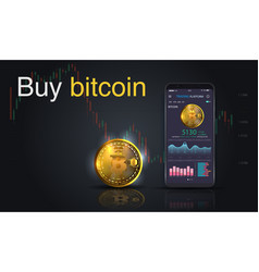 buy bitcoin online crypto payment concept vector image