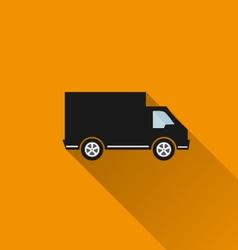 Car icon 10 long shadow vector image vector image