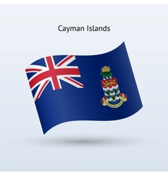 Cayman Islands flag waving form vector