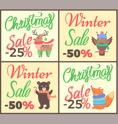Christmas sale -25 collection vector