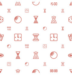 Clock icons pattern seamless white background vector