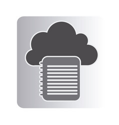 cloud notebook network icon vector image